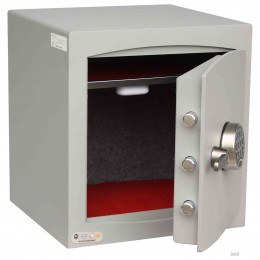 Digital Security Safe - Securikey Mini Vault Silver 3E - Door wide