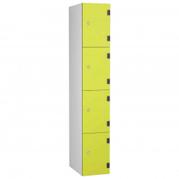The Probe Shockbox Four Tier Overlay Laminate Door in Lime Yellow