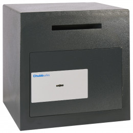 Chubbsafes Sigma Size 2 Key locking Black safe closed with deposit slot