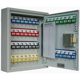 Securikey Key Vault KV048 Key Storage Cabinet Euro Key Lock 48 Keys - door open