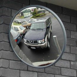 Outdoor Convex Mirror 450mm - Securikey Econovex wall fixed