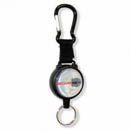 Keybak Securit Karabiner Key Reel 60cm steel chain closed