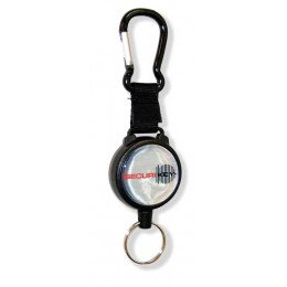 Keybak Karabiner Style Key Reel 120cm Kevlar Cord closed