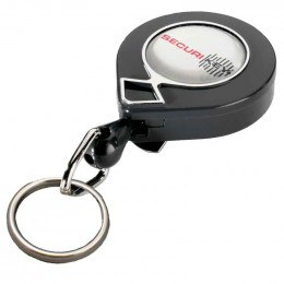KeyBak MINI-BAK Split Ring Key Reel 60cm Nylon Cord - supplied in a Twin Pack