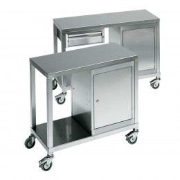 Stainless Steel Mobile Trolley with Locking Cabinet - Bedford SMT