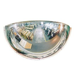 Plexiglass 1/2 Dome Convex Wall Safety Mirror - Vialux 100cm