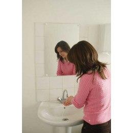 Flat Frameless Safety Vanity Mirror 40x60cm - Vialux 4600PLS in use