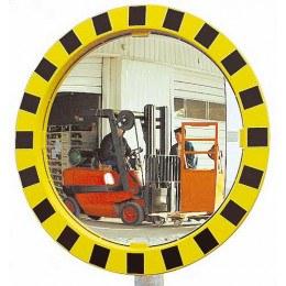Industrial Convex Mirror Yellow-Blk 60cm - Vialux 986