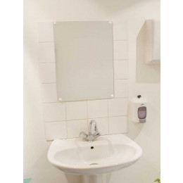Frameless Safety Vanity Mirror 60x80cm - Vialux 6800PLS