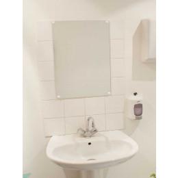 Frameless Safety Vanity Mirror 60x80cm - Vialux 6800PLS