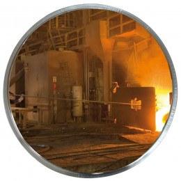 Heat Resist Stainless Steel Post Convex Mirror 60cm - Vialux 817