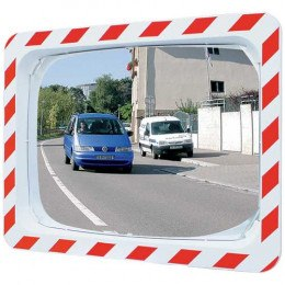 Convex Traffic Mirror with post or wall fixing 80x60cm - Vialux 556