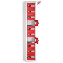 Probe TABBOX 10 Vision Door Tablet Storage Locker  in Red