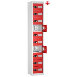 Probe TABBOX 10 Tablet USB Charging Vision Locker - Red Door