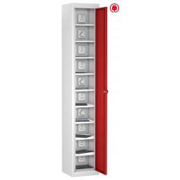 Probe TabBox Charging USB Locker 1 Door 10 Tablet Capacity - Red Door