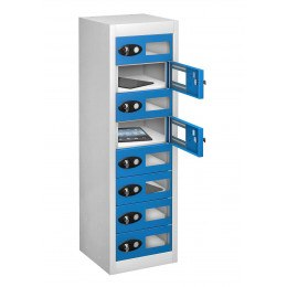 Probe TABBOX 8 Tablet Storage Locker with 8 Vision Doors - blue
