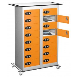 Probe TABBOX 16 Door Charging Storage Trolley in Orange