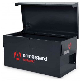Armorgard Tuffbank Security Van Box TB1 - 920mm wide - open