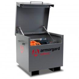 Armorgard TuffBank TB21 - Lid open showing heavy duty gas struts