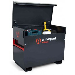 Armorgard Tuffbank TB3 Security Tested Site Tool Storage Box - in use