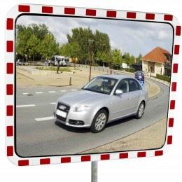 Dancop TM-PC-80x100 Convex Polycarbonate Traffic Convex Mirror - Front View for road junctions