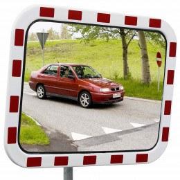 Dancop TM-PC-40x60 Convex Polycarbonate Traffic Convex Mirror - Front View for road junctions
