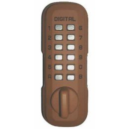 Lockey Digital Spare Door Key Safe - Terracotta
