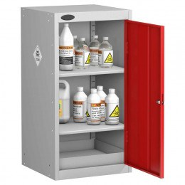 Probe TOX-E Toxic Substance Small Steel Storage Cabinet - door open