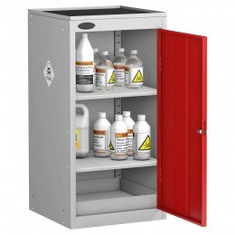 Probe TOX-ED Toxic Small Steel Cabinet with Dished Top - door open