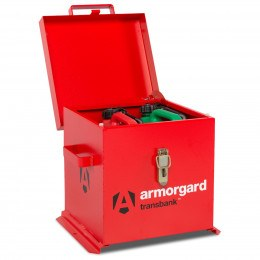 Armorgard Transbank TRB1 Portable Flammable Storage Chest - open with contents