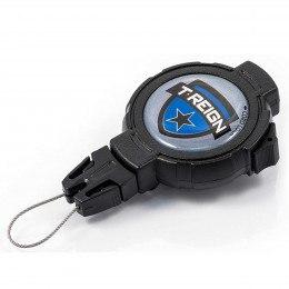 T-Reign 120cm Kevlar Cord Heavy Duty Clip On Belt Key Reel