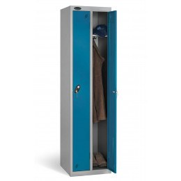 Probe Twin Locker 1780x460x460 key locking blue door open