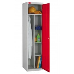 Probe Janitors Supplies Locker 1780x460x460 red door open