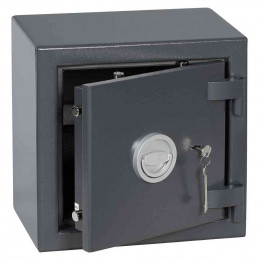 Keysecure Victor Small Eurograde 1 Key Locking Safe Size 1 - Door ajar