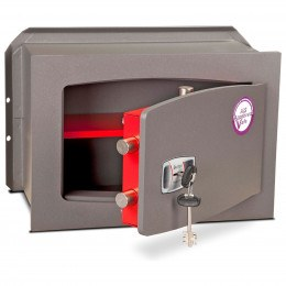 Burton Torino Premium quality Wall Safe DK Size 4 Key Lock - door ajar