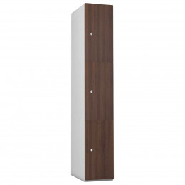 3 Door Steel Locker - Woodgrain MDF- Probe Timberbox