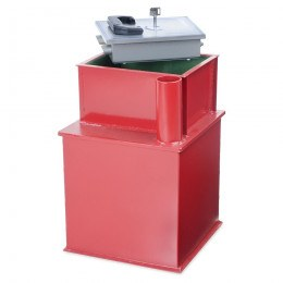 Burton Watchman ABP Deposit safe showing the key locking rectangular lid and the deposit tube