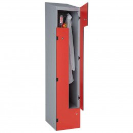 Z Locker -Two User Laminate Door Locker - Probe SGL-Z with optional sloping top
