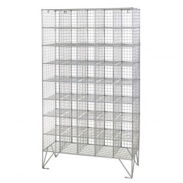 Robinson 40 Compartment Metal Wire Mesh 1360x775 mm open storage locker