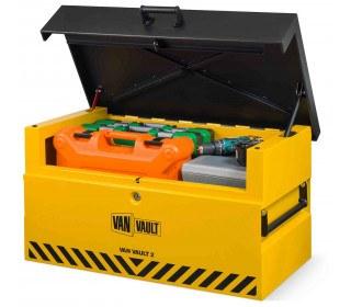 Van Vault 2 New Vehicle Storage Box - Security Tested - lid open