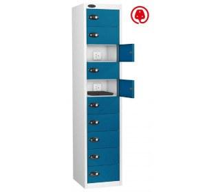 Laptop USB Charging Locker 10 Door - Probe Lapbox 10CHD - Blue