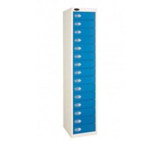 Probe 15 Door Combination Locking Storage Locker  Blue door Closed