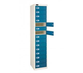 Probe 15 Blue Door Locker 1780x380x460mm with doors open