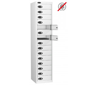 Laptop Storage Locker 15 Door - Probe Lapbox 15STD - White
