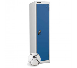 Probe Low Height 1 Door Steel Key Locking Storage Locker blue