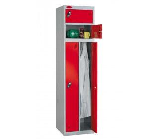 Probe Two Person Storage Combination Locking Locker 1780x460x460 red door open