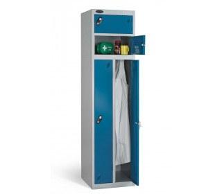 Probe Two Person Storage Key Locking Locker 1780x460x460 blue door open