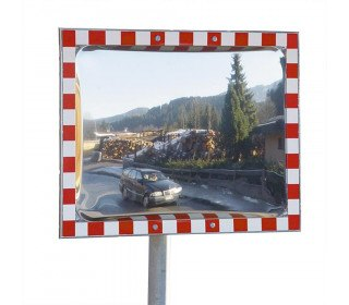 Moravia Durabel 1 Stainless Steel Convex Traffic Mirror 40x60cm