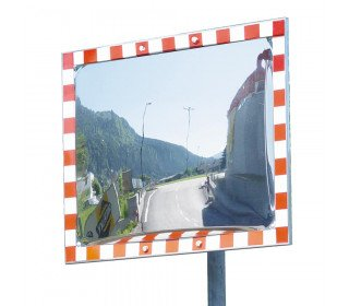 Convex Stainless Traffic Mirror 80x100cm - Durabel IceFree