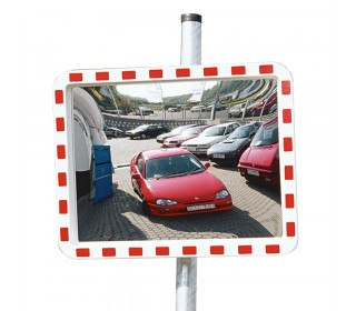 View-Minder 1 - 40x60cm Acrylic Post Mount Convex Traffic Mirror